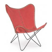 Fotel BUTTERFLY GAUCHO PEPPER - czerwony