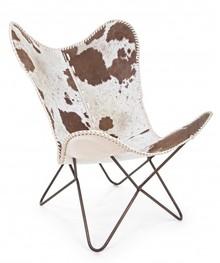 Fotel BUFFALO - brązowy/biały