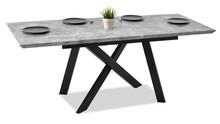 Stół rozkładany TIMOR 160-200x90 - beton/czarny