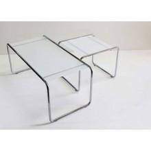 Zestaw 2 szklanych stolików TEPON - transparentny