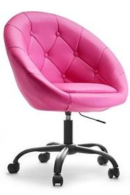 Fotel z ekoskóry LOUNGE 4 - różowy/czarny