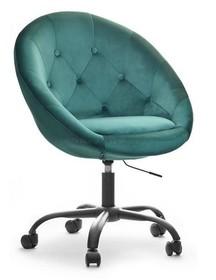 Fotel welurowy LOUNGE 4 - zielony/czarny
