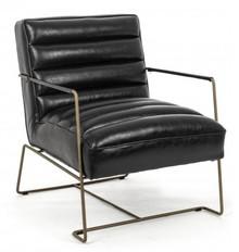 Fotel VINTAGE LOFT - czarny