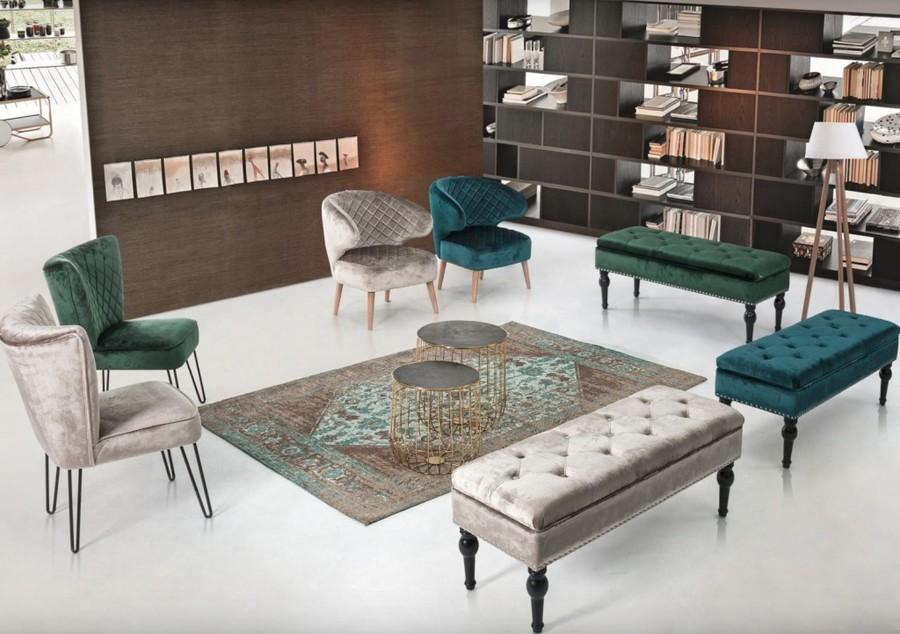 Fotel Glamour Nowoczesny Loftowy Szary Tapicerowany Do Salonu