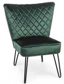 Fotel BALTHAZAR - butelkowa zieleń