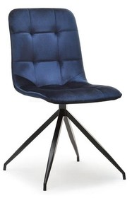 Krzesło pikowane SALLY - granatowy