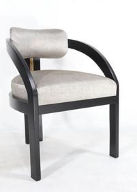 Krzesło z drewna tapicerowane STANLEY