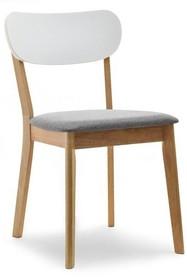 Krzesło jadalniane AMADO - dąb/biały