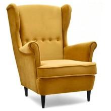 Fotel z podłokietnikami MALMO - miodowy/czarny