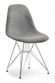 Krzesło MPC ROD TAP - szary welur/chrom