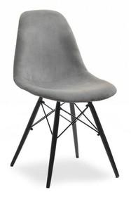 Krzesło MPC WOOD TAP - szary welur/czarny