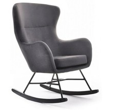 Fotel bujany NESTA - grafit/czarny
