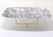 Stół owalny z marmurowym blatem ROSSK