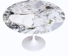 Stół okrągły z marmurowym blatem TULIA - White and Beauty