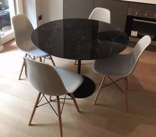 Stół z marmurowym blatem TULIA - Maraquina Nero