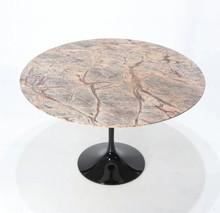 Stół z marmurowym blatem TULIA - Forest Brown