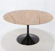 Stół okrągły z marmurowym blatem TULIA - Forest Gold