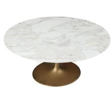 Okrągły marmurowy stół TULIP CALACATTA ORO