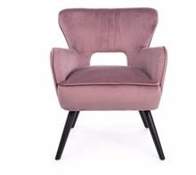 Fotel BLUSH - pudrowy róż