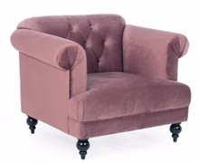 Fotel ROSA ANTICO - pudrowy róż