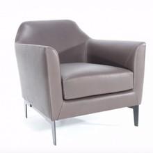 Fotel tapicerowany z niskim oparciem GABRA