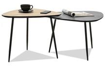 Zestaw 2 stolików kawowych ROSIN S+XL - dąb sonoma/beton