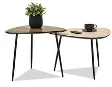 Komplet 2 stolików ROSIN XL+S - dąb sonoma/ORZECH