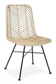 Krzesło rattanowe LORENA - naturalny