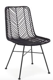 Krzesło rattanowe LORENA - czarne