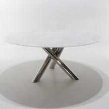Stół okrągły z marmurowym blatem VAN DICK