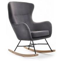 Fotel bujany NESTA - grafit/buk