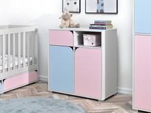 Komoda dziecięca ROZI R3 - różowy/niebieski