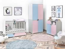 Zestaw mebli dziecięcych ROZI 1 - różowy/niebieski