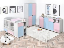 Zestaw mebli dziecięcych ROZI 2 - różowy/niebieski