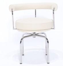 Krzesło obrotowe z ekoskóry GIREVOLE CON BRACCIOLI