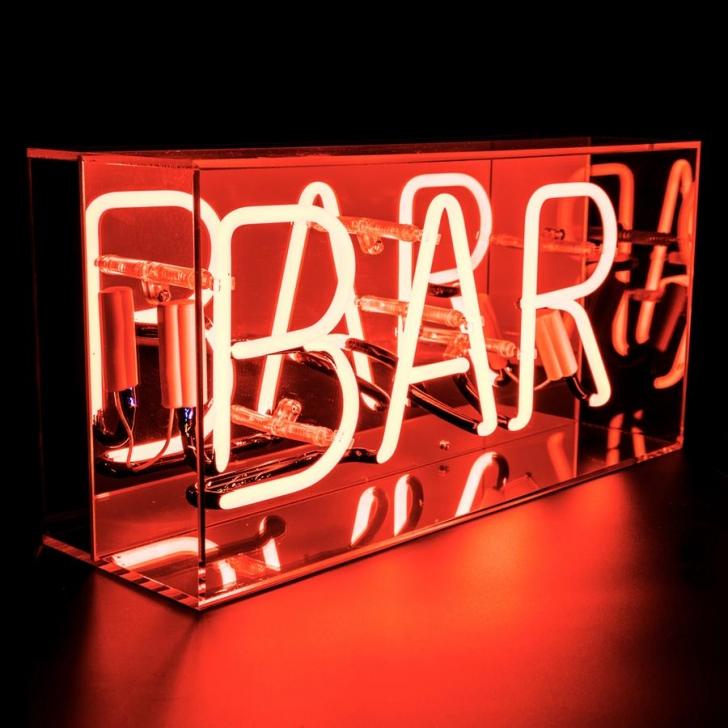 Pudełko Neonowe Z Napisem Bar Do Domowego Barku Barku Klubu Winiarni Restauracji Hotelu Dyskoteki