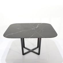 Stół kwadratowy z marmurowym blatem ROSSK QUADRATO