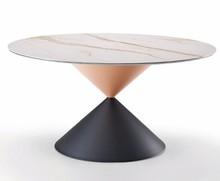 Okrągły stół z ceramicznym blatem CLESSIDRA