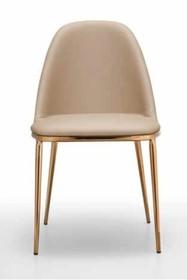 Tapicerowane i fornirowane krzesło LEA MIDJ
