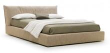 Dwuosobowe tapicerowane łóżko plasir