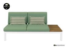 Sofa 2os. lewa Pebble Beach 72x180x87cm