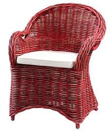 Fotel Athena z poduszką różowy 64x56x88 cm