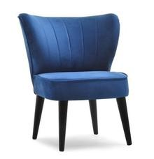 Mały fotel ARMI - granatowy/czarny