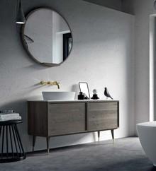 Drewniana szafka pod umywalke do łazienki coco art deco