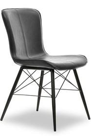 Krzesło z ekoskóry MARGOT - czarny