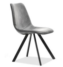 Krzesło z ekoskóry do jadalni PROXI - szary