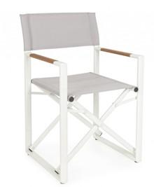 Krzesło reżyserskie LAGUN - biały