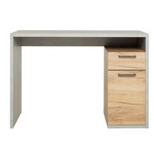Moma biurko jasny beton/złoty dąb