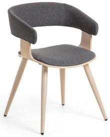 Krzesło drewniane MANHEI - szary