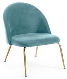 Fotel niski TEREMYS - zielony/złoty